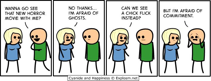 Commitment by Cyanide and Happiness